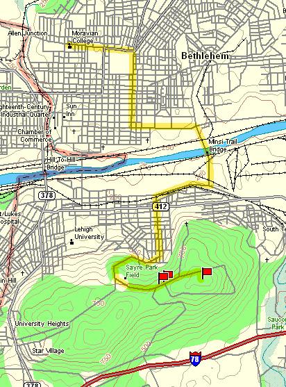 Moravian Campus Map.Joseph J Gerencher Jr