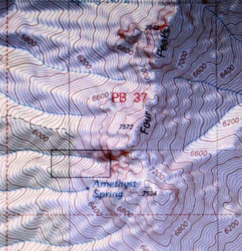 Geologic Map Of Arizona.Four Peaks